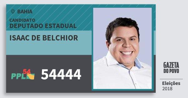 Santinho Isaac de Belchior 54444 (PPL) Deputado Estadual | Bahia | Eleições 2018