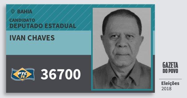 Santinho Ivan Chaves 36700 (PTC) Deputado Estadual | Bahia | Eleições 2018