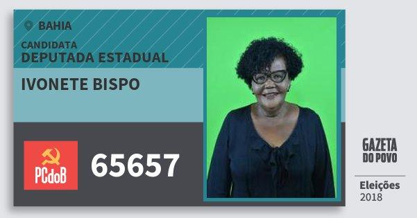 Santinho Ivonete Bispo 65657 (PC do B) Deputada Estadual | Bahia | Eleições 2018