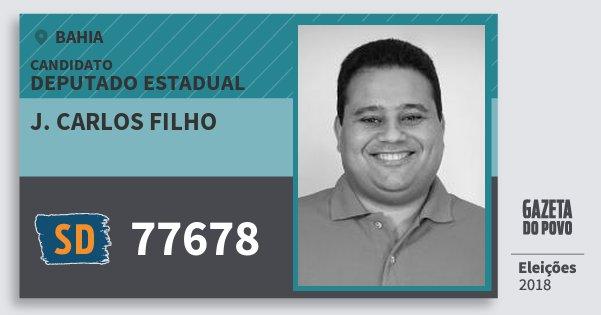 Santinho J. Carlos Filho 77678 (SOLIDARIEDADE) Deputado Estadual | Bahia | Eleições 2018