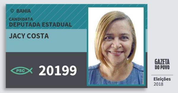 Santinho Jacy Costa 20199 (PSC) Deputada Estadual | Bahia | Eleições 2018