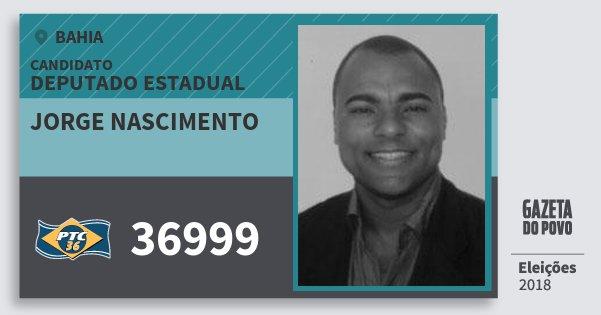 Santinho Jorge Nascimento 36999 (PTC) Deputado Estadual | Bahia | Eleições 2018