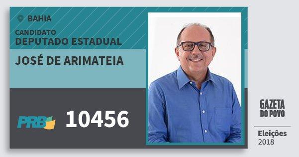 Santinho José de Arimateia 10456 (PRB) Deputado Estadual | Bahia | Eleições 2018