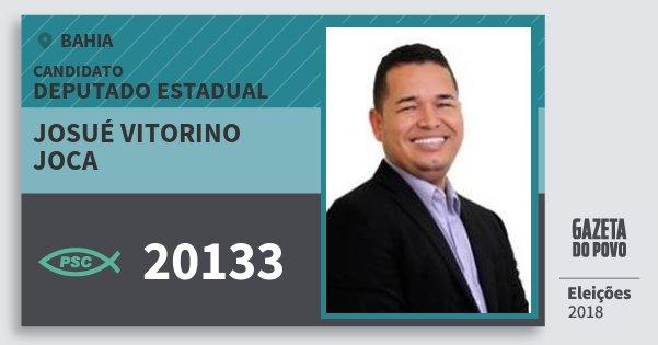 Santinho Josué Vitorino Joca 20133 (PSC) Deputado Estadual | Bahia | Eleições 2018