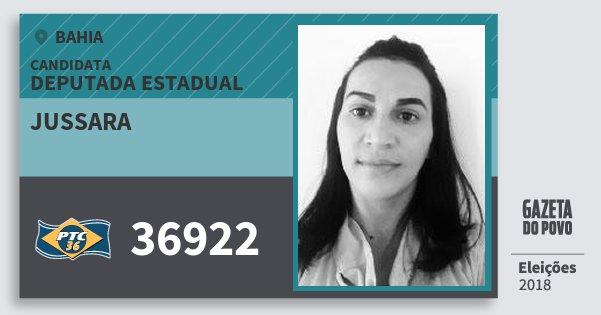 Santinho Jussara 36922 (PTC) Deputada Estadual | Bahia | Eleições 2018