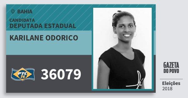Santinho Karilane Odorico 36079 (PTC) Deputada Estadual | Bahia | Eleições 2018