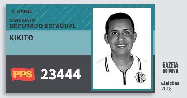 Santinho Kikito 23444 (PPS) Deputado Estadual | Bahia | Eleições 2018