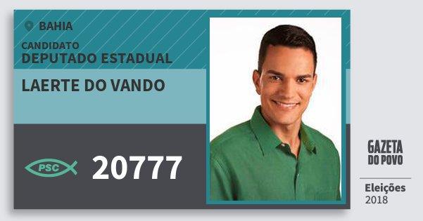 Santinho Laerte do Vando 20777 (PSC) Deputado Estadual | Bahia | Eleições 2018