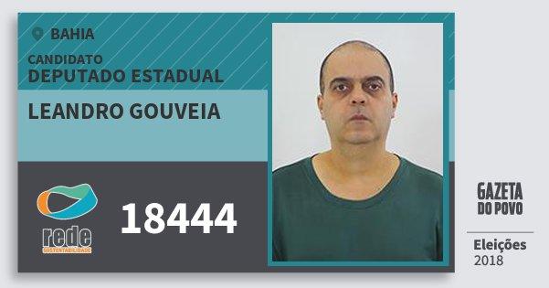 Santinho Leandro Gouveia 18444 (REDE) Deputado Estadual | Bahia | Eleições 2018