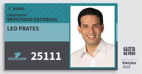 Santinho Leo Prates 25111 (DEM) Deputado Estadual | Bahia | Eleições 2018