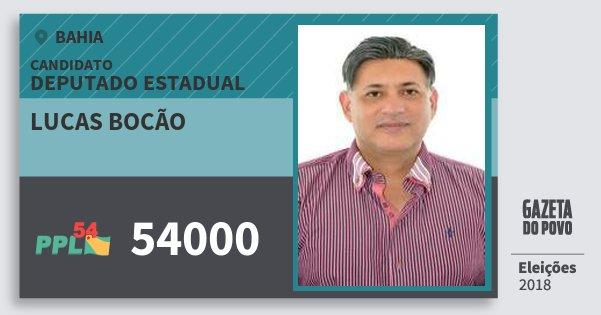 Santinho Lucas Bocão 54000 (PPL) Deputado Estadual | Bahia | Eleições 2018