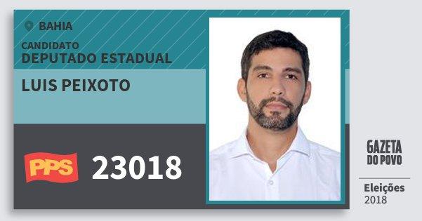 Santinho Luis Peixoto 23018 (PPS) Deputado Estadual | Bahia | Eleições 2018