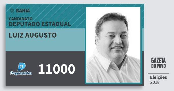 Santinho Luiz Augusto 11000 (PP) Deputado Estadual | Bahia | Eleições 2018