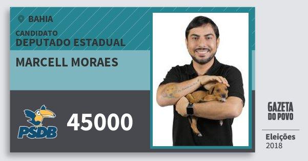 Santinho Marcell Moraes 45000 (PSDB) Deputado Estadual | Bahia | Eleições 2018