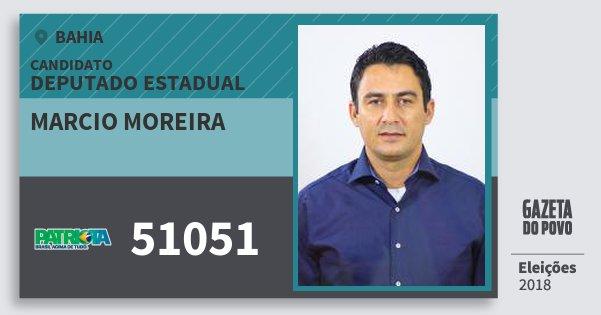 Santinho Marcio Moreira 51051 (PATRI) Deputado Estadual | Bahia | Eleições 2018