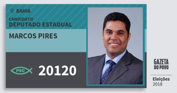 Santinho Marcos Pires 20120 (PSC) Deputado Estadual | Bahia | Eleições 2018