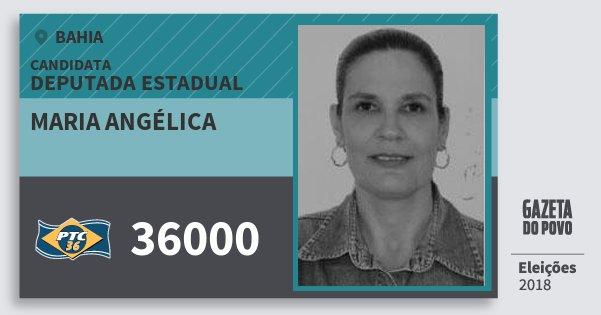 Santinho Maria Angélica 36000 (PTC) Deputada Estadual | Bahia | Eleições 2018