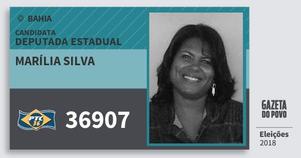 Santinho Marília Silva 36907 (PTC) Deputada Estadual | Bahia | Eleições 2018