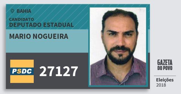 Santinho Mario Nogueira 27127 (DC) Deputado Estadual | Bahia | Eleições 2018