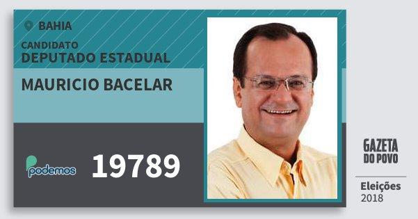 Santinho Mauricio Bacelar 19789 (PODE) Deputado Estadual | Bahia | Eleições 2018