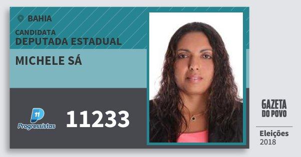 Santinho Michele Sá 11233 (PP) Deputada Estadual | Bahia | Eleições 2018