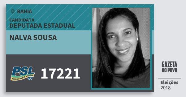Santinho Nalva Sousa 17221 (PSL) Deputada Estadual | Bahia | Eleições 2018