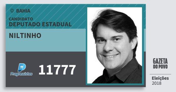Santinho Niltinho 11777 (PP) Deputado Estadual | Bahia | Eleições 2018