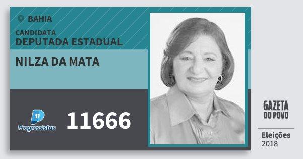 Santinho Nilza da Mata 11666 (PP) Deputada Estadual | Bahia | Eleições 2018
