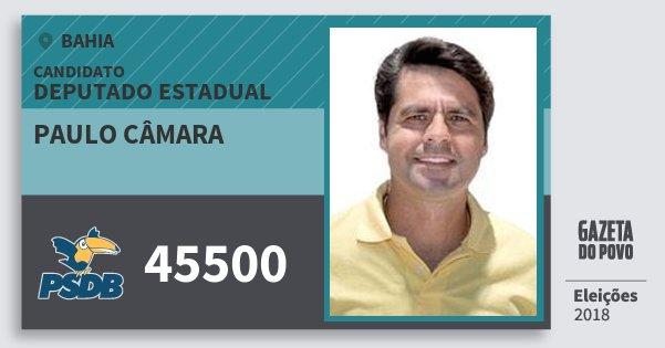 Santinho Paulo Câmara 45500 (PSDB) Deputado Estadual | Bahia | Eleições 2018