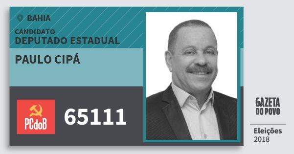Santinho Paulo Cipá 65111 (PC do B) Deputado Estadual | Bahia | Eleições 2018