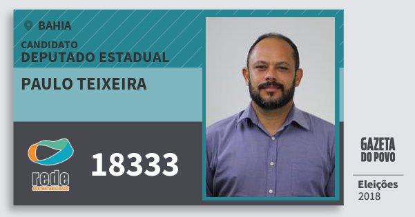 Santinho Paulo Teixeira 18333 (REDE) Deputado Estadual | Bahia | Eleições 2018