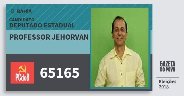 Santinho Professor Jehorvan 65165 (PC do B) Deputado Estadual | Bahia | Eleições 2018