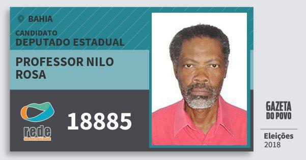 Santinho Professor Nilo Rosa 18885 (REDE) Deputado Estadual | Bahia | Eleições 2018