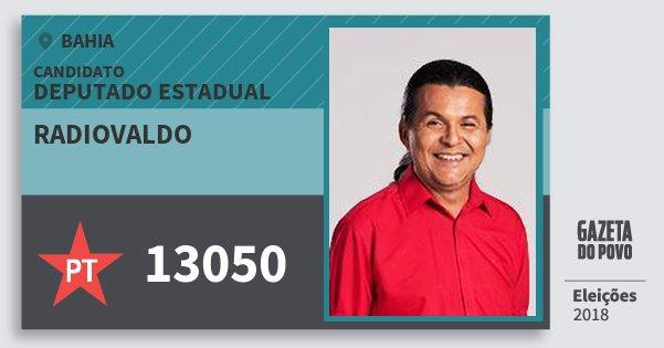 Santinho Radiovaldo 13050 (PT) Deputado Estadual | Bahia | Eleições 2018