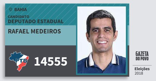 Santinho Rafael Medeiros 14555 (PTB) Deputado Estadual | Bahia | Eleições 2018
