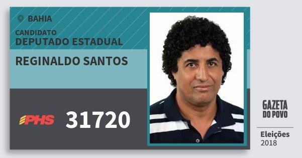 Santinho Reginaldo Santos 31720 (PHS) Deputado Estadual | Bahia | Eleições 2018