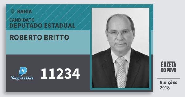 Santinho Roberto Britto 11234 (PP) Deputado Estadual | Bahia | Eleições 2018