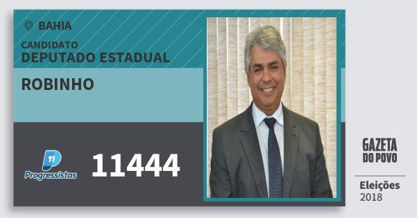 Santinho Robinho 11444 (PP) Deputado Estadual | Bahia | Eleições 2018
