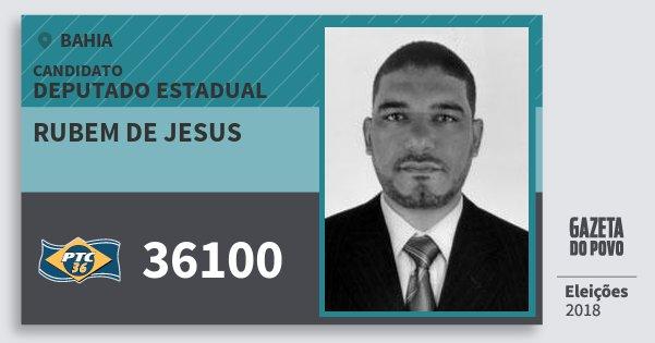 Santinho Rubem de Jesus 36100 (PTC) Deputado Estadual | Bahia | Eleições 2018