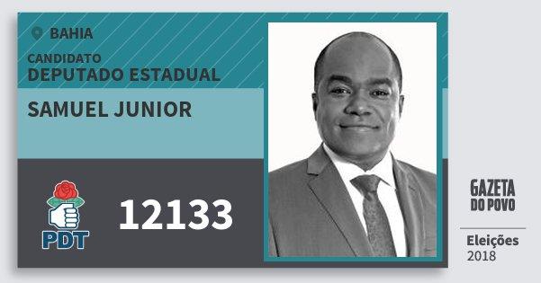 Santinho Samuel Junior 12133 (PDT) Deputado Estadual | Bahia | Eleições 2018