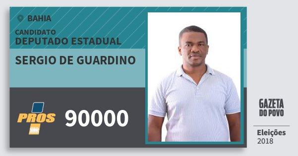 Santinho Sergio de Guardino 90000 (PROS) Deputado Estadual | Bahia | Eleições 2018