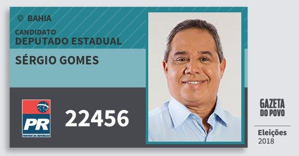 Santinho Sérgio Gomes 22456 (PR) Deputado Estadual | Bahia | Eleições 2018