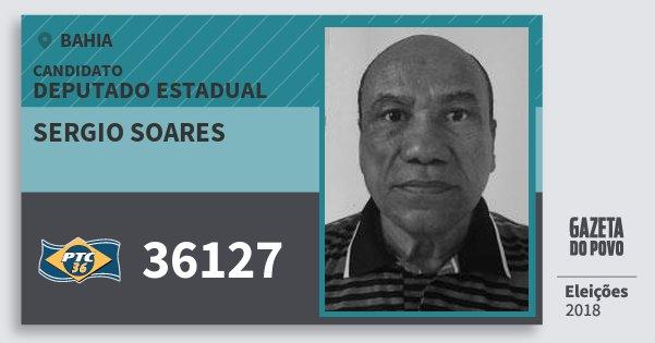 Santinho Sergio Soares 36127 (PTC) Deputado Estadual | Bahia | Eleições 2018