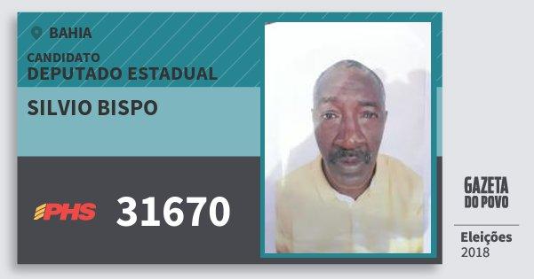 Santinho Silvio Bispo 31670 (PHS) Deputado Estadual | Bahia | Eleições 2018