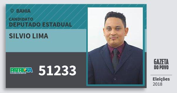Santinho Silvio Lima 51233 (PATRI) Deputado Estadual | Bahia | Eleições 2018