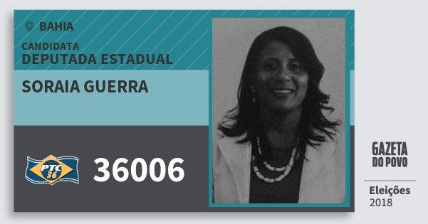 Santinho Soraia Guerra 36006 (PTC) Deputada Estadual   Bahia   Eleições 2018