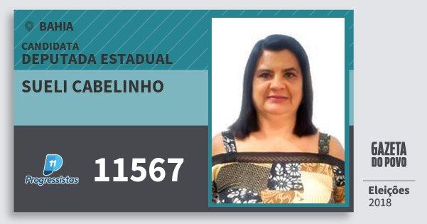 Santinho Sueli Cabelinho 11567 (PP) Deputada Estadual | Bahia | Eleições 2018