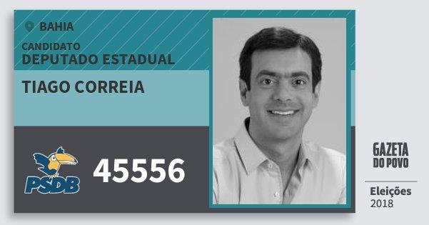 Santinho Tiago Correia 45556 (PSDB) Deputado Estadual | Bahia | Eleições 2018