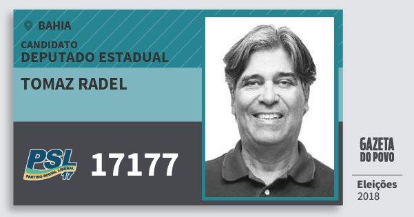 Santinho Tomaz Radel 17177 (PSL) Deputado Estadual | Bahia | Eleições 2018