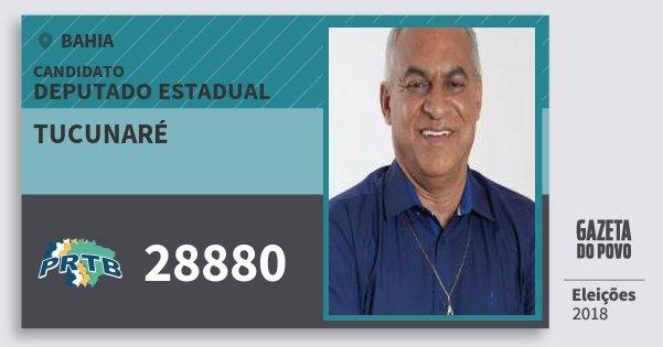 Santinho Tucunaré 28880 (PRTB) Deputado Estadual | Bahia | Eleições 2018